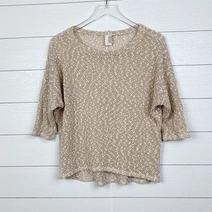 Anthropologie Sweater with Cropped Sleeves